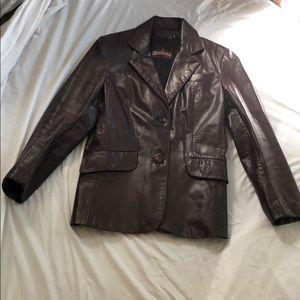 Rare vintage genuine plum leather jacket